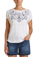 Embroidery Print Tee