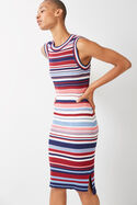 Stripe Rib Knit Dress