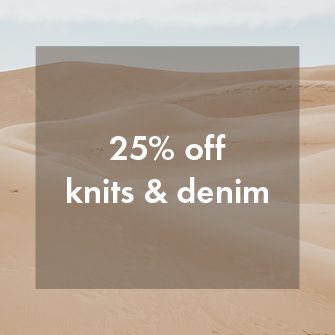 shop knits & denim